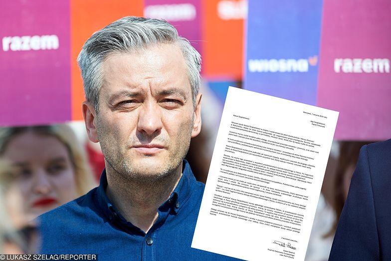 Robert Biedroń napisał list do papieża Franciszka