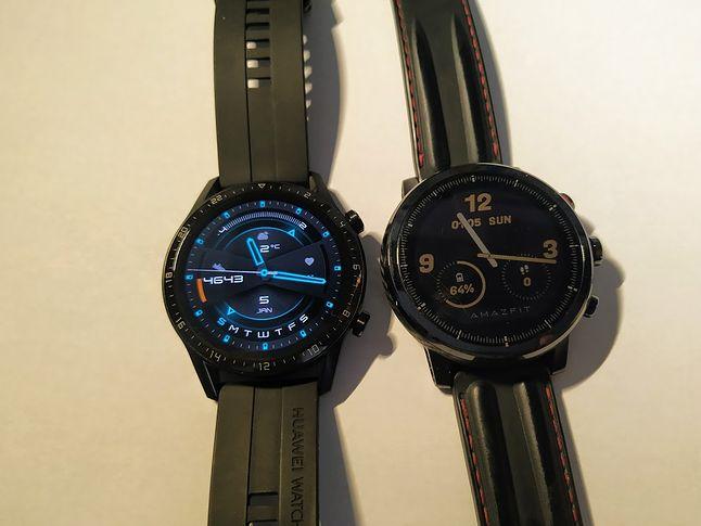 Po lewej GT2 , po prawej Stratoz 2 - różnica w technologi wyświetlaczy widoczna jest natychmiast