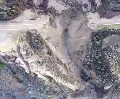 Wielki kawał autostrady nagle runął do oceanu. Zdjęcia porażają