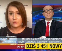 Paszporty covidowe. Awantura z posłanką PiS w Polsat News
