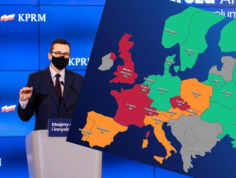 Epidemia w Europie nie zwalnia. Polska pośrodku zestawienia zachorowań