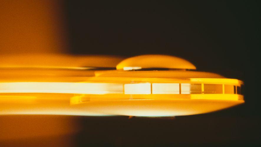 Grafika koncepcyjna przedstawiająca UFO, fot. Alfred Gescheidt/Getty Images