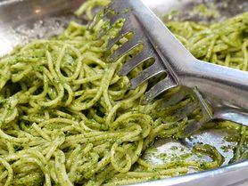 Zielona pasta ze szpinakiem