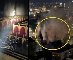 Płonął zabytkowy polski kościół. Drastyczne nagrania z Kijowa
