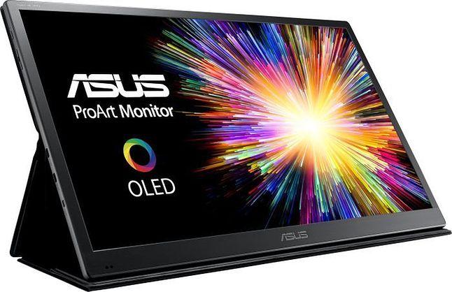 ASUS ProArt PQ22UC — komercyjnie oferowany monitor z drukowanym panelem OLED produkcji japońskiej. Można go kupić także w Polsce