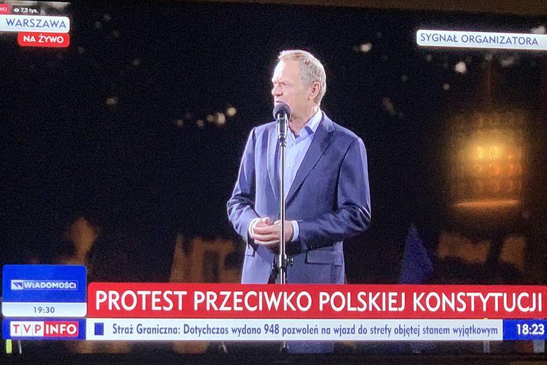 Relacja TVP z protestów. Widzowie przecierali oczy ze zdumienia