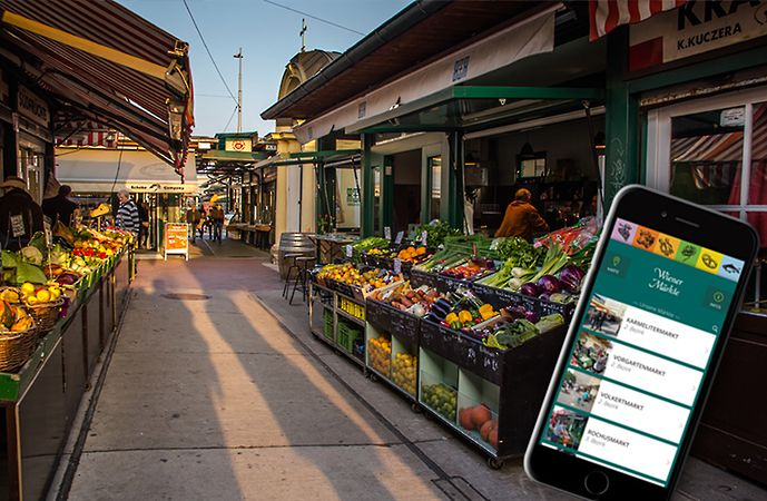 Nowoczesne miasto w Internecie — Wiedeń - Wiedeńskie targowiska doczekały się własnej, bardzo wygodnej aplikacji. Może dlatego, że to pomieszanie targowiska, z restauracjami, kawiarniami, pchlim targiem i miejscem spotkań towarzyskich.