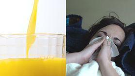 Najlepszy drink na grypę i przeziębienie. Pij sok pomarańczowy, gdy jesteś chory (WIDEO)