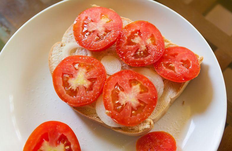 Pomidory to zły wybór na śniadanie