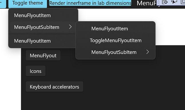 Proponowane odświeżone menu kontekstowe w Windows 10, tutaj na przykładzie ciemnego motywu, źródło: GitHub.