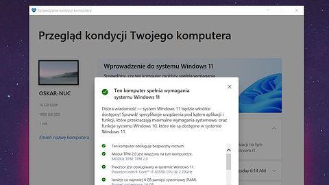 Windows 11: sprawdź z PC Health Check, czy zainstalujesz