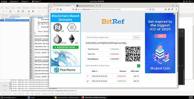 Portfel BitCoin okazuje się być dość pusty... (fot. Kamil Dudek)