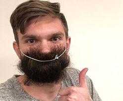 Koronawirus niestraszny Drągowskiemu. Maseczkę zastąpił długą brodą