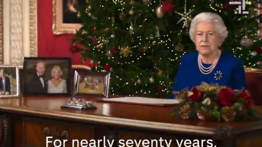 Deepfake z królową Elżbietą II wyemitowany w telewizji /fot. Twitter/Channel 4
