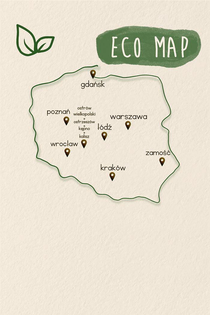 mapa eko sklepów