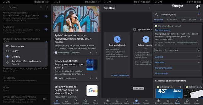 Google w wersji beta na Androida oferuje już ciemny motyw dla każdego.