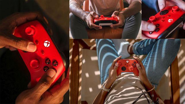 Biało-czerwony kontroler Xbox