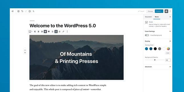 edytor bloków w nowym WordPressie