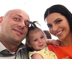 Robert Burneika szalał z córką na weselnym parkiecie