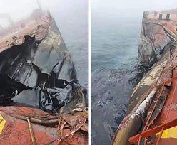 Zderzenie statków na Morzu Żółtym. Do wody wycieka ropa