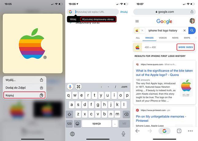 Wyszukiwanie zdjęciem w systemie iOS przebiega nieco inaczej, fot. Klaudia Stawska.