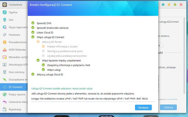 Funkcja EZ-Connect pozwala uzyskać indywidualną nazwę Cloud ID ułatwiając proces zdalnego dostępu z urządzeń mobilnych. Dodatkowa konfiguracja routera staje się zbędna.