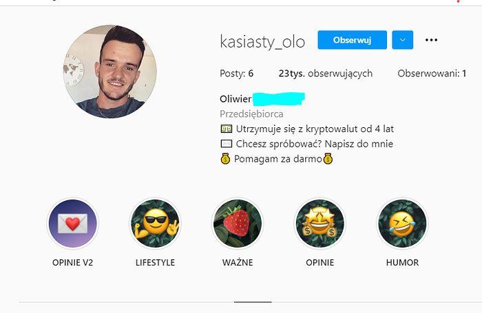 """Profile na IG, które namawiają użytkowników do """"szybkiego zarobku"""""""
