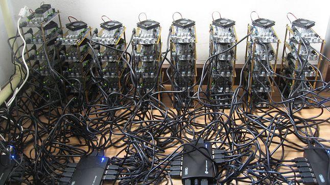 Przykładowa koparka kryptowalutowa. Źródło: Gizmondo Australia