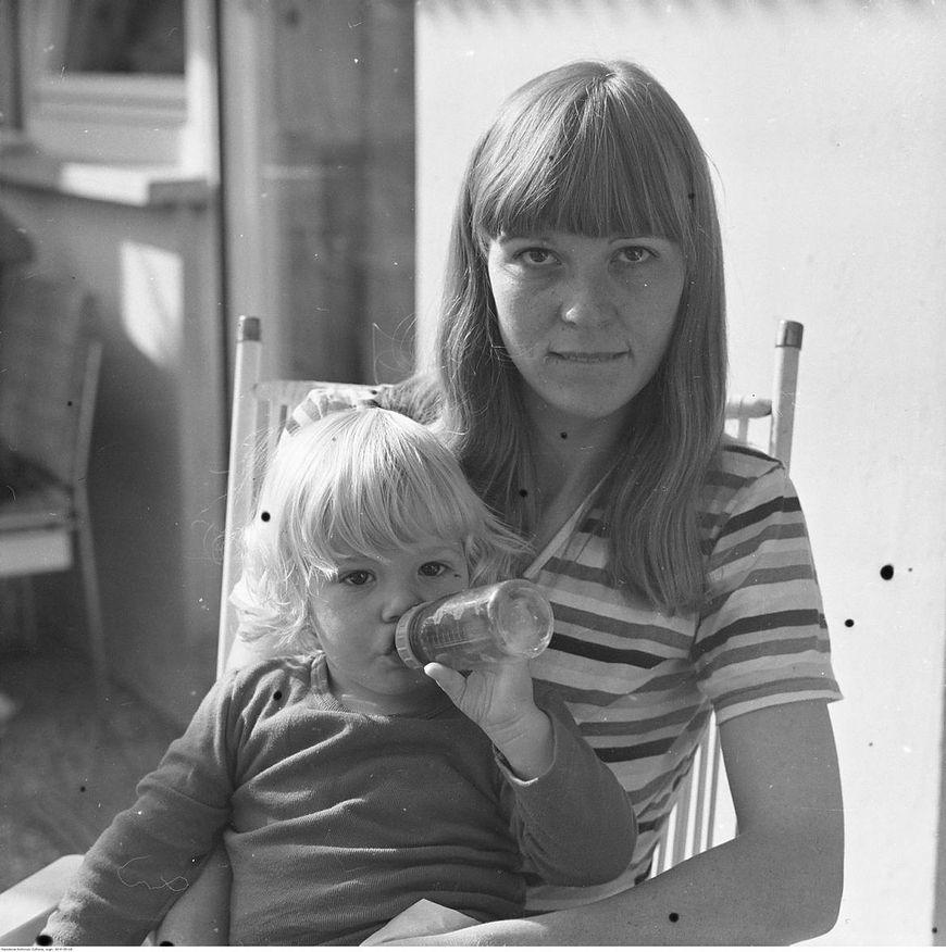 Matka z dzieckiem w 1981 roku