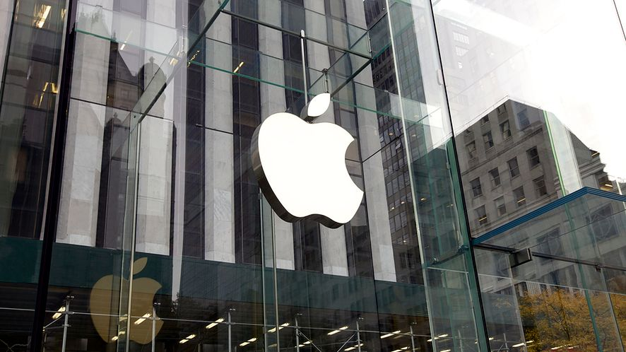Logo na sklepie Apple z depositphotos
