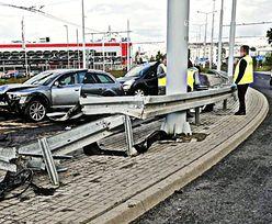 Kierowca audi chciał uciec za wszelką cenę. Wyprzedzał rowem. Wideo z Lublina