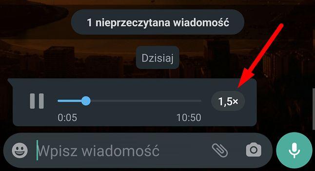 WhatsApp pozwala zmieniać szybkość odtwarzania wiadomości głosowych