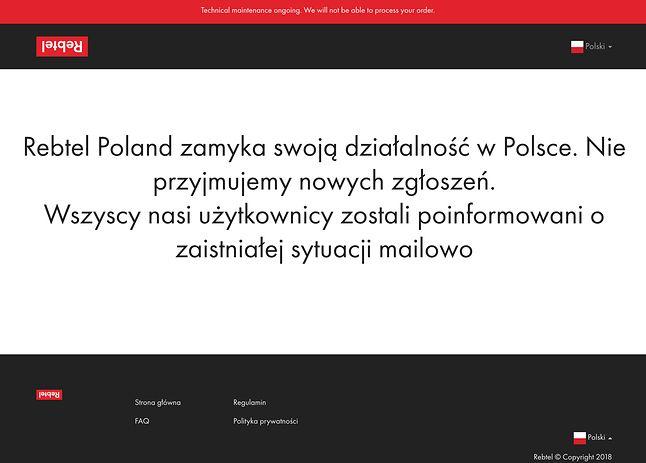 K=komunikat na stronie rebtel.pl