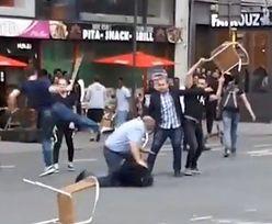 Szokujący film z Belgii. Brutalna bójka w barze z kebabem