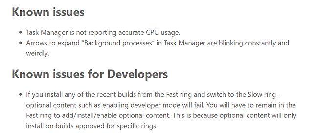 Mimo szeregu poprawek, w Windowsie 10 19H1 już teraz znane są kolejne błędy czekające na rozwiązanie.