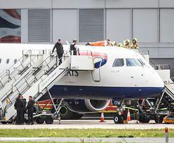 Niewidomy sportowiec przykleił się do samolotu. Dla walki o klimat [Zobacz wideo]
