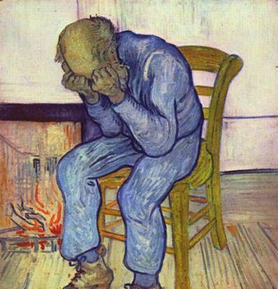 Obraz przedstawiający człowieka dotkniętego depresją
