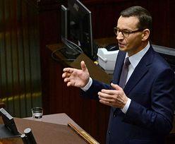 Morawiecki przerwał przemówienie, żeby zażartować z PO