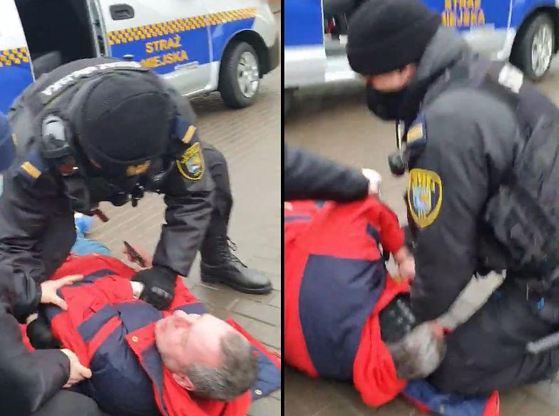 Brutalna interwencja straży miejskiej w Ełku oburzyła ludzi