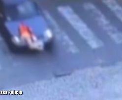10-latek właśnie schodził z pasów. Jest nagranie policji