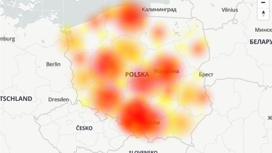 Awaria w banku PKO BP /fot. downdetector.pl