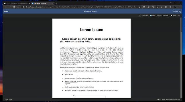 Nowa opcja pozwala wyświetlać dokumenty Office'a bezpośrednio w przeglądarce, fot. Leopeva64-2/reddit