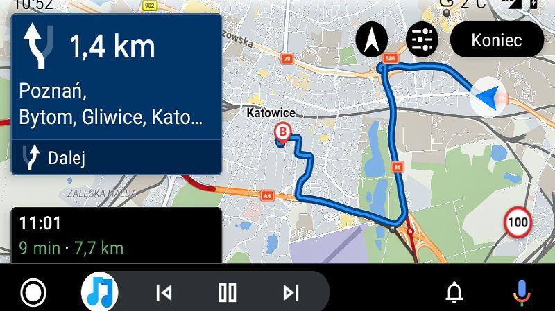 Sygic działa już w Androidzie Auto, fot. Oskar Ziomek
