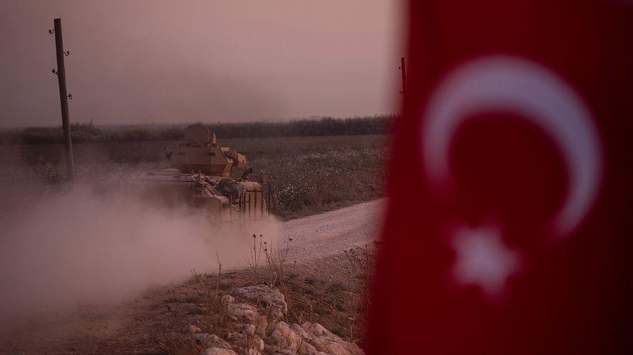 Tureckie wojska przemieszczają się do północnej Syrii (9.10.2019, Burak Kara/Getty Images)