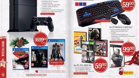 [Aktualizacja] PS4 z dyskiem 1 TB i trzema grami (m. in. Bloodborne) za 1499 zł? Biedronka znowu szaleje