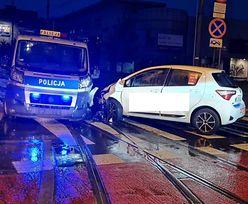 Łódź. 22-latek spowodował wypadek. Pech chciał, że uderzył w radiowóz