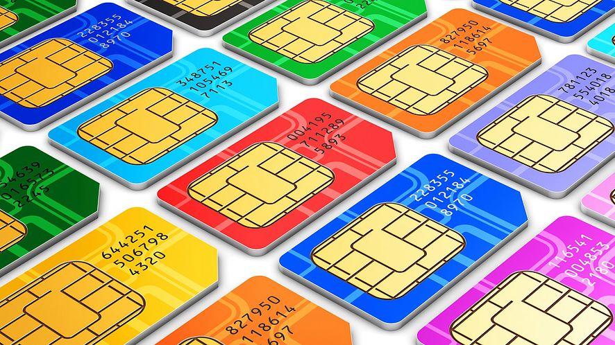 Kolorowe karty SIM z depositphotos
