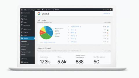 Google Site Kit - przydatny plugin do WordPressa