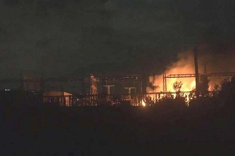 Pożar w elektrowni we Włoszech. Widać go z odległości 40 kilometrów