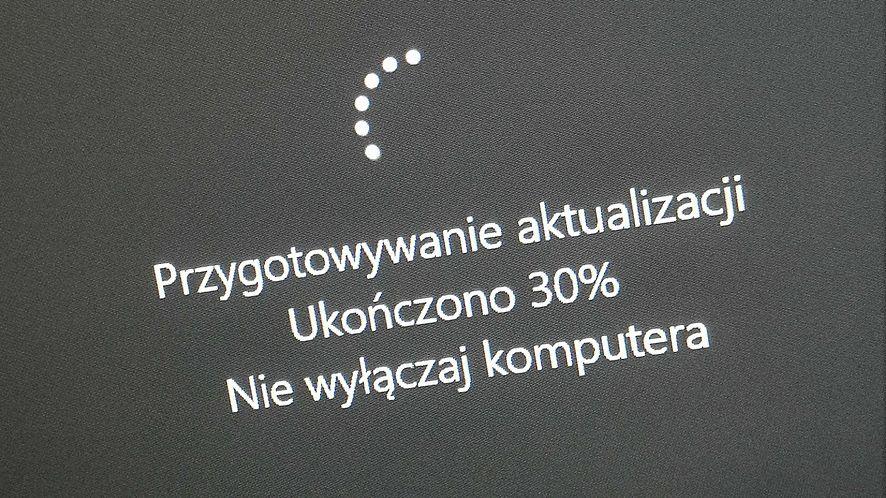 Windows 10 został zaktualizowany w tle, fot. Oskar Ziomek